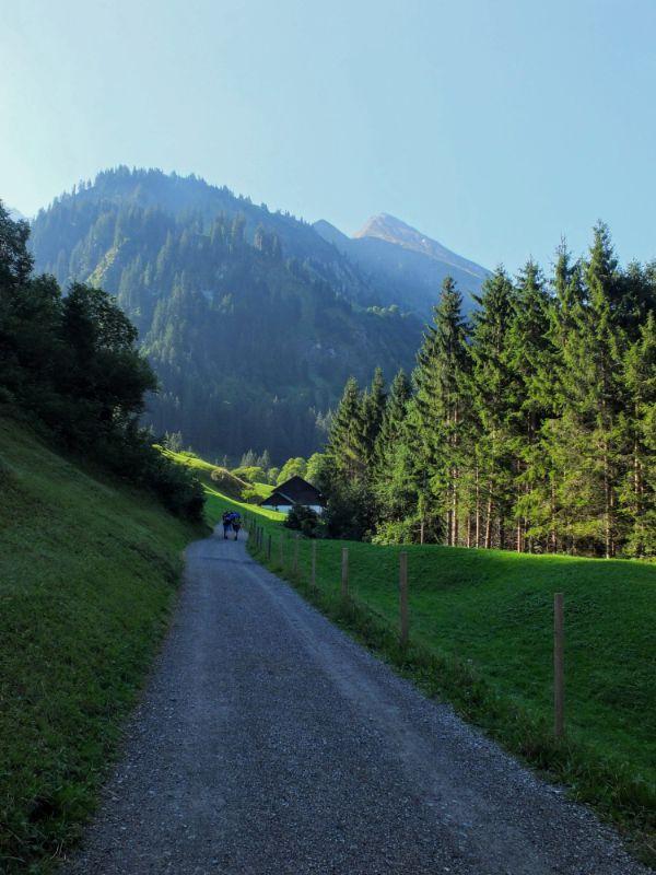 into the Rappenalpenbach valley