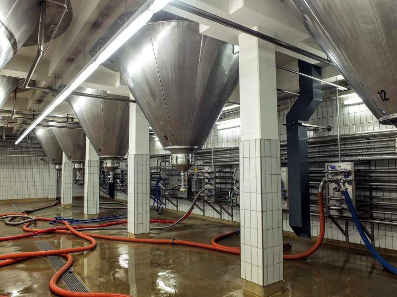 below the fermenters