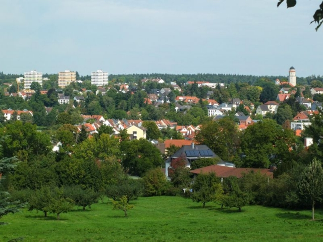 view north from Weihenstephan hill