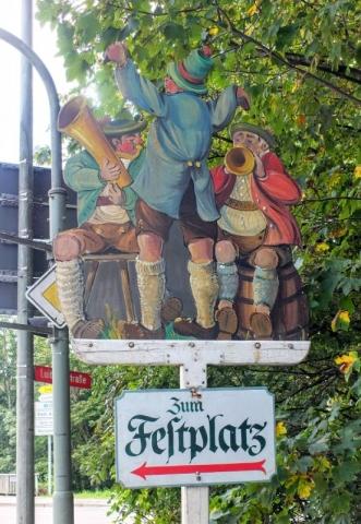 Festplatz sign