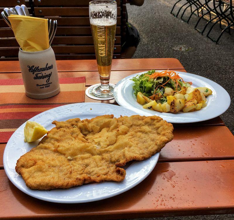 schnitzel dinner ... ahhh!