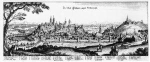 engraving depicting Freising