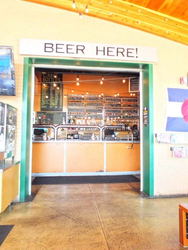 self-serve beer window