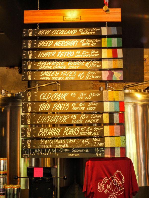 Platform Brewery lineup