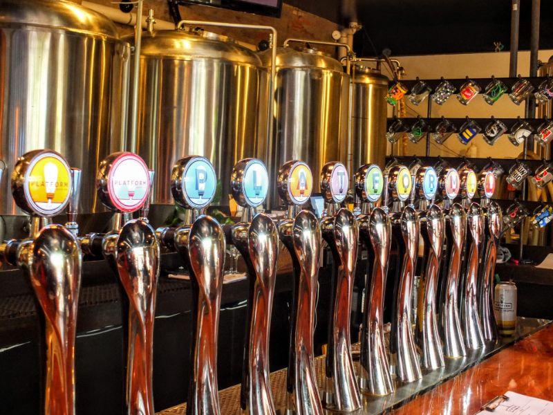 Platform Brewery taps