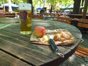 carry-in lunch at Augustiner Biergarten
