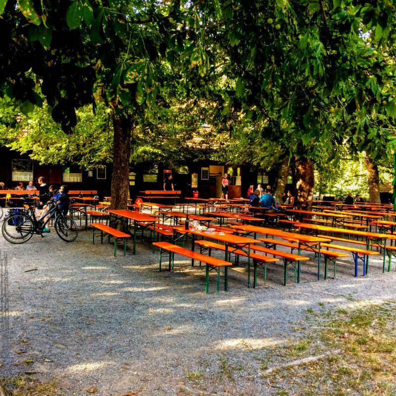 Blockhutte Beer Garden, Oberpfalz