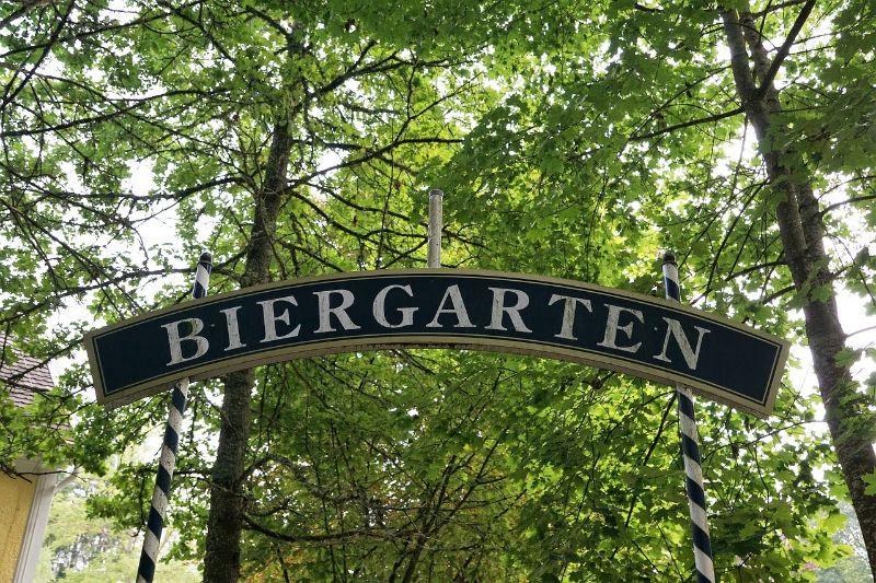 Biergarten in the trees