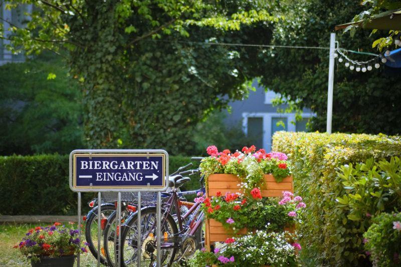 Biergarten entrance