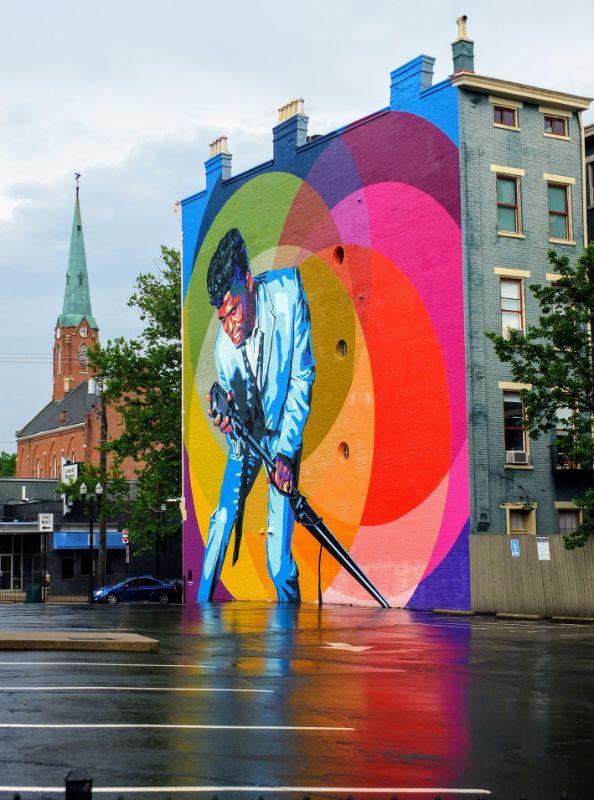 James Brown street art