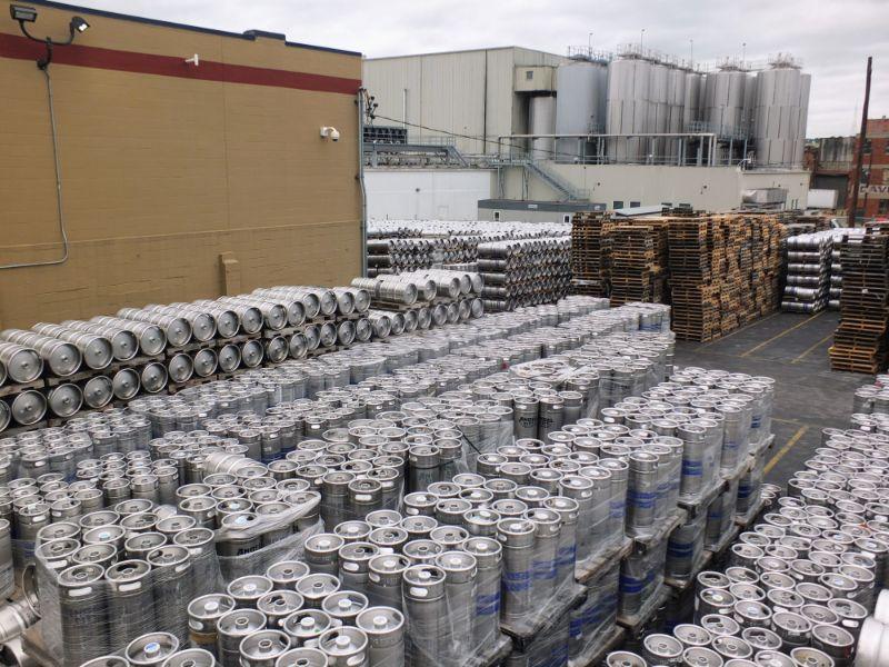 Sam Adams Brewery yard