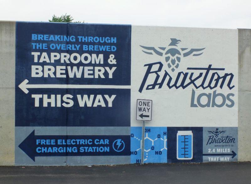 Braxton Labs wall sign