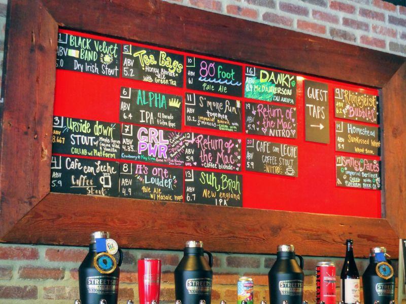 Streetside Brewery line up