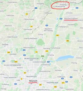 Freising location