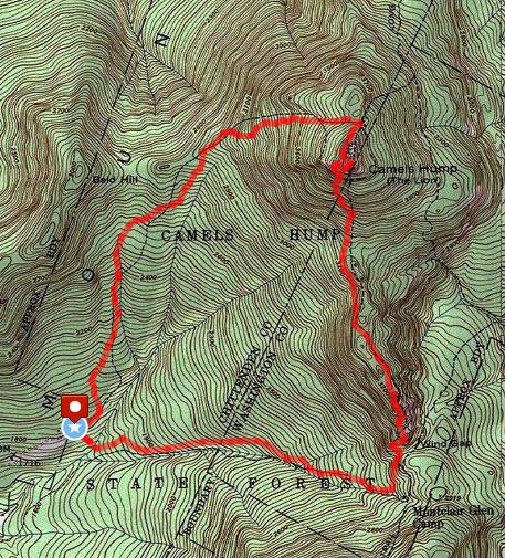 Camels Hump Loop Route