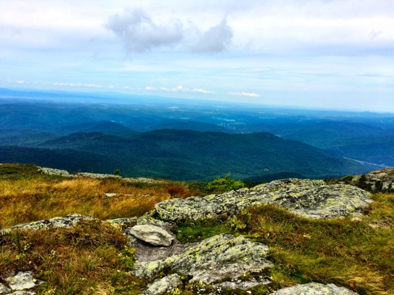 view from Camels Hump Summit