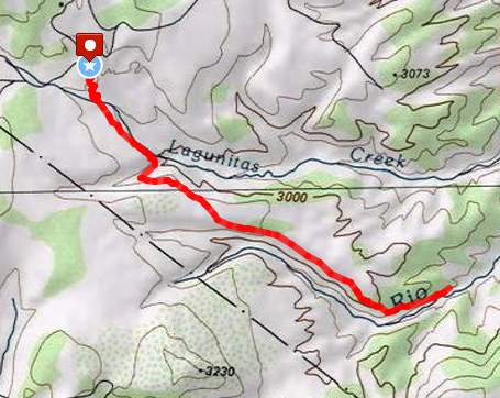 Continental Divide Dayhike route