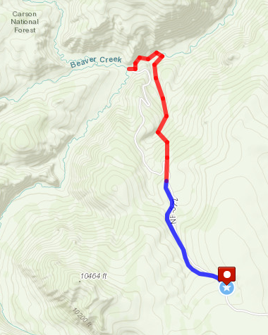Cruces Basin hike route