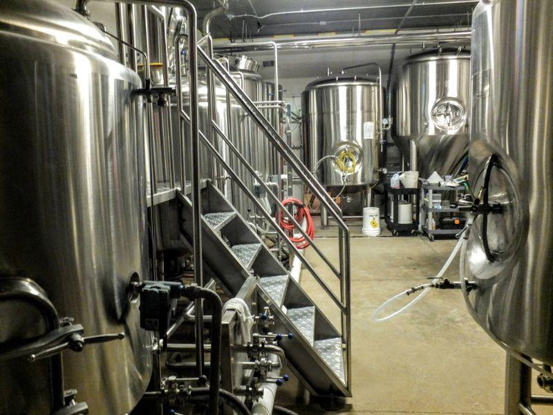 Harmony Hall brewhouse