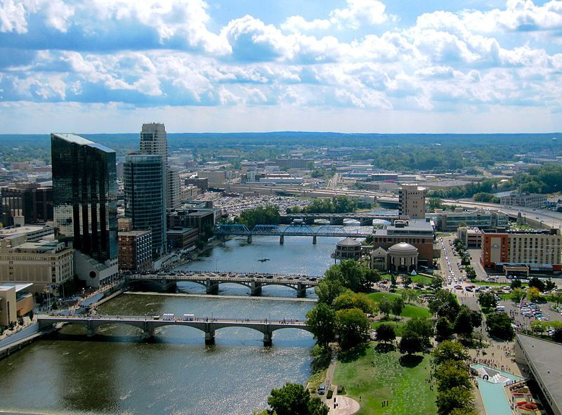 Downtown Grand Rapids along Grand River - image from Wikimedia