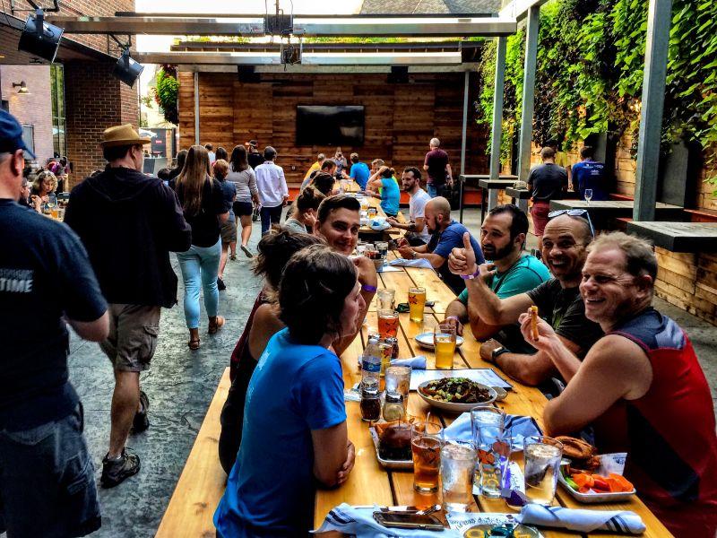 Knickerbocker beer garden