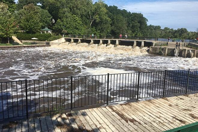 Rockford Dam on the White Pine Trail