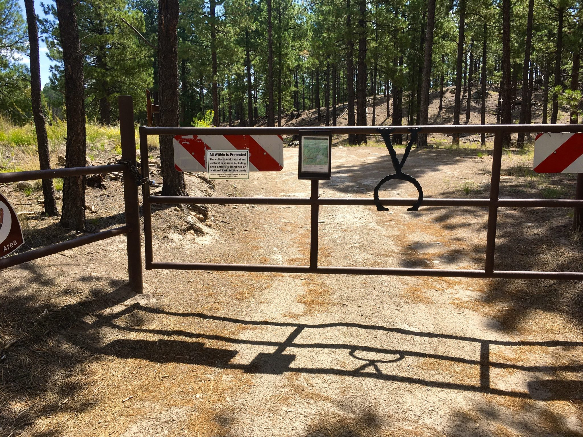 trailhead gate