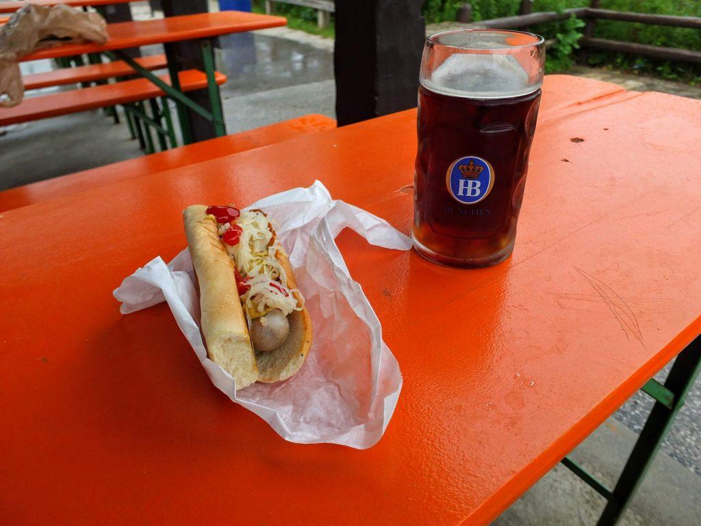 beer & brat at Estabrook Beer Garden
