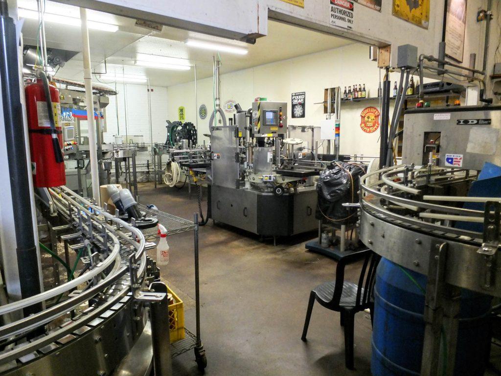 Lakefront Brewery bottling line