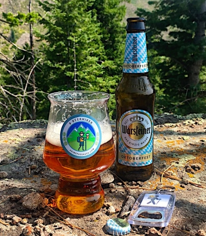 beer after the hike