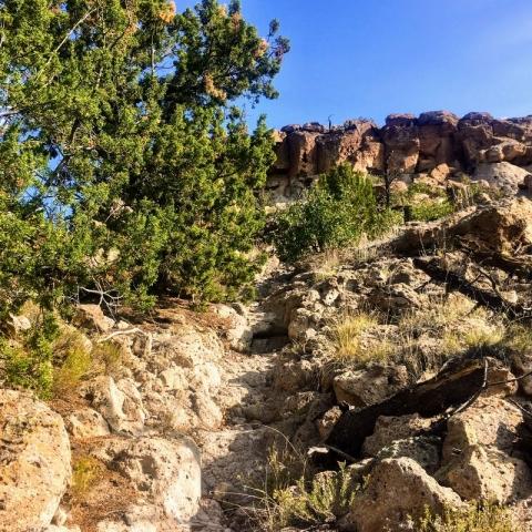 up to Broke Mesa
