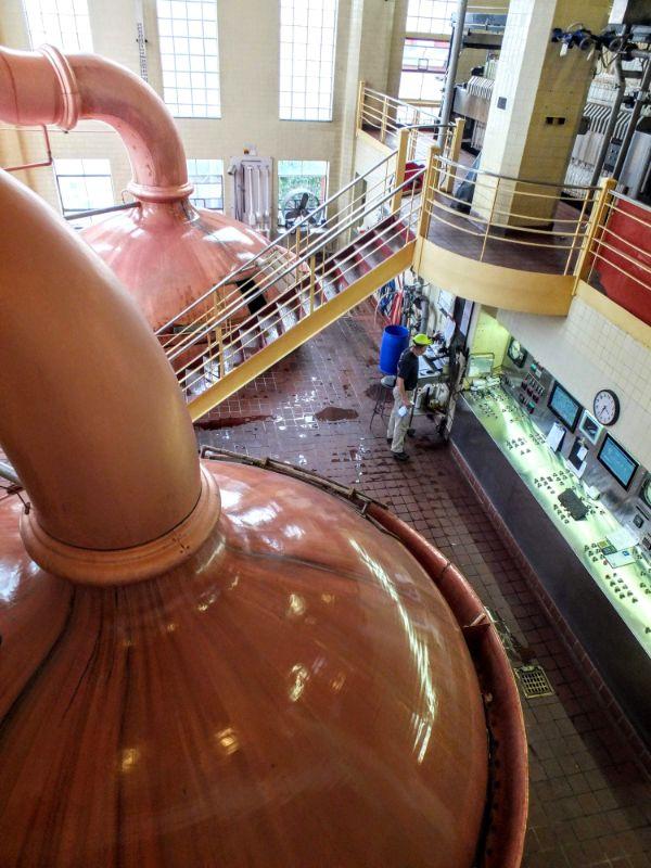 FX Matt Brewing Company brewhouse