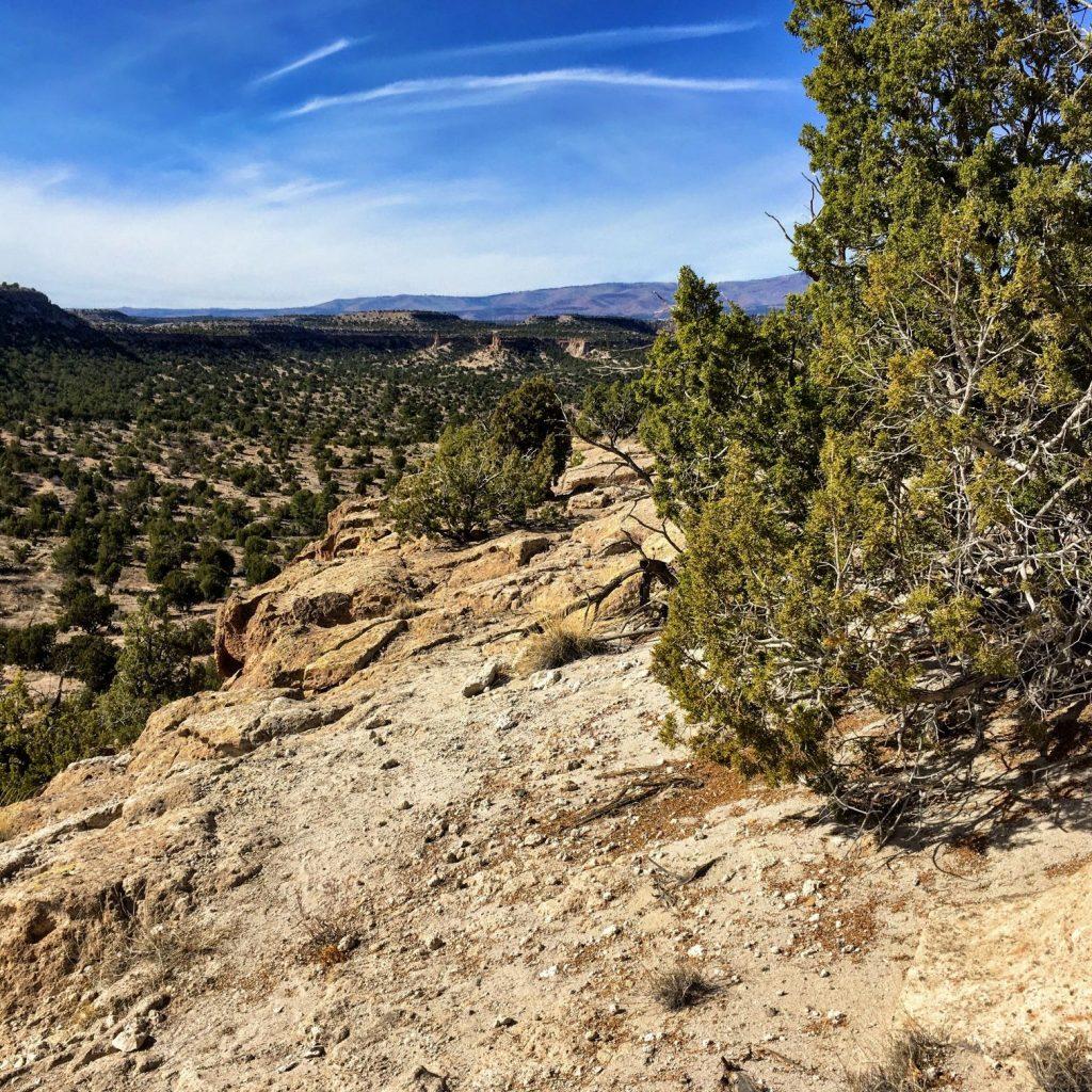 cliff-edge trail