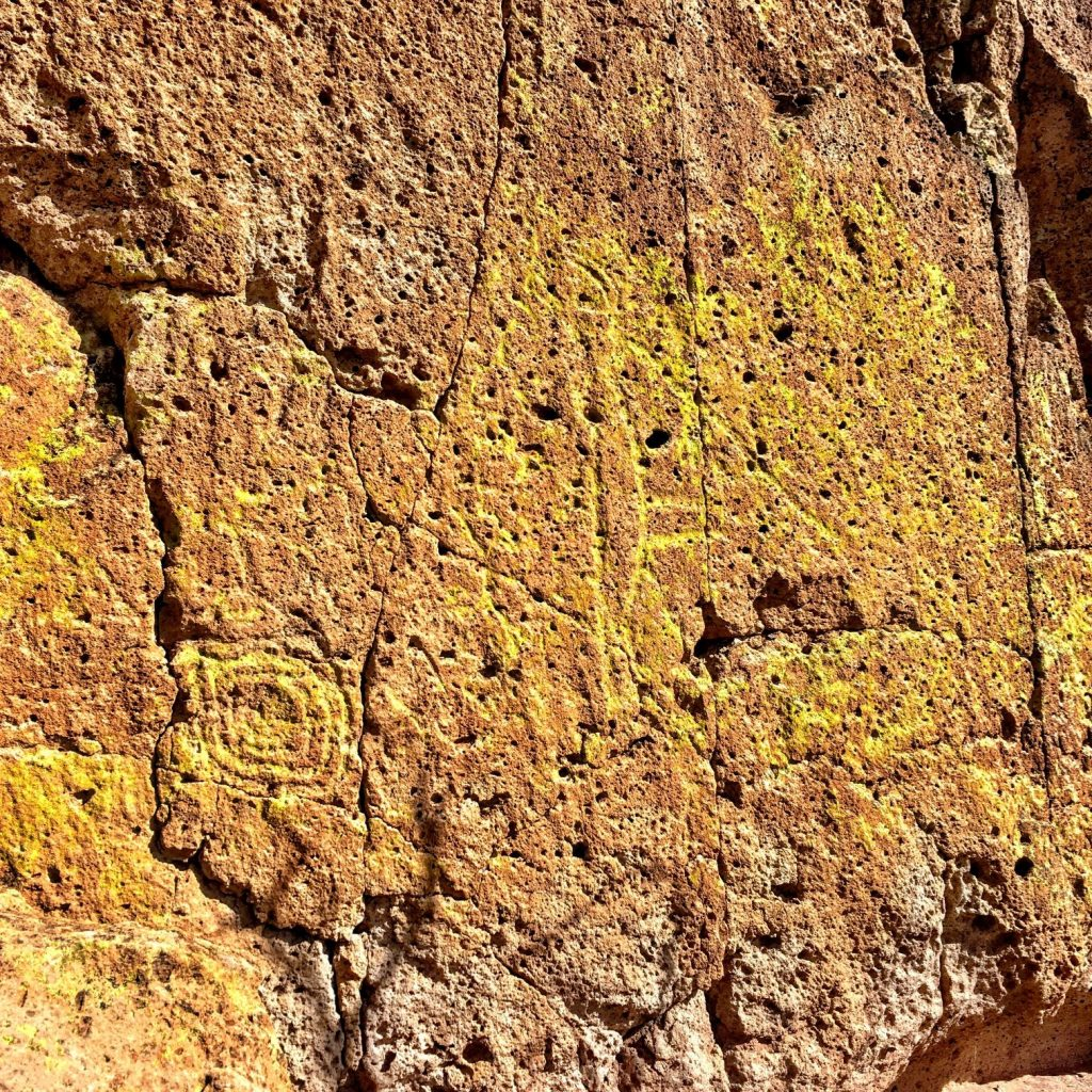 weathered petroglyphs