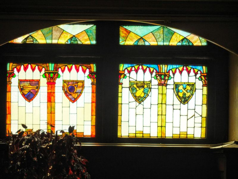 Athenaeum stained glass feature