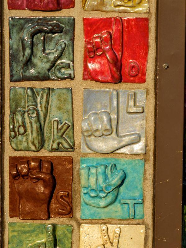 mosaic at deaf school