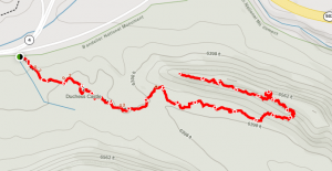 Hike Route - click anywhere on the map image for interactive route map