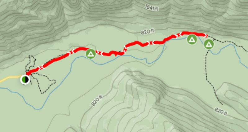 Hoh River Trail Route