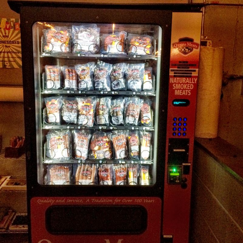 my second ever sausage vending machine