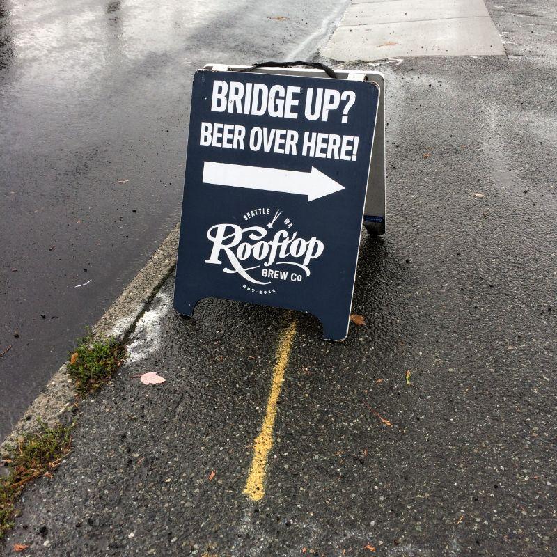 Bridge Up?  Have a beer.