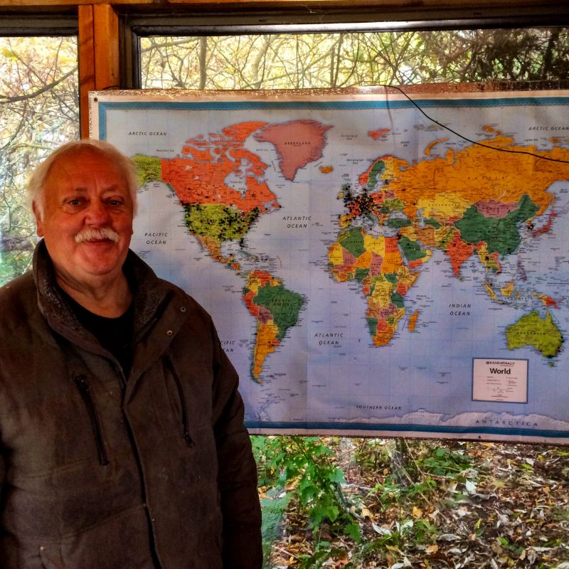 Couchsurfing host Lonnie sees people from all over the world
