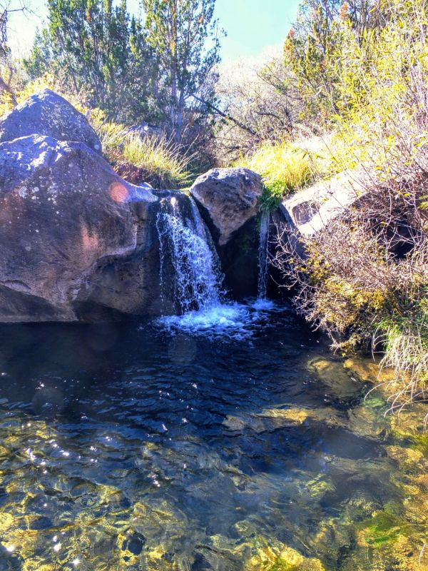falls on Pajarito Creek