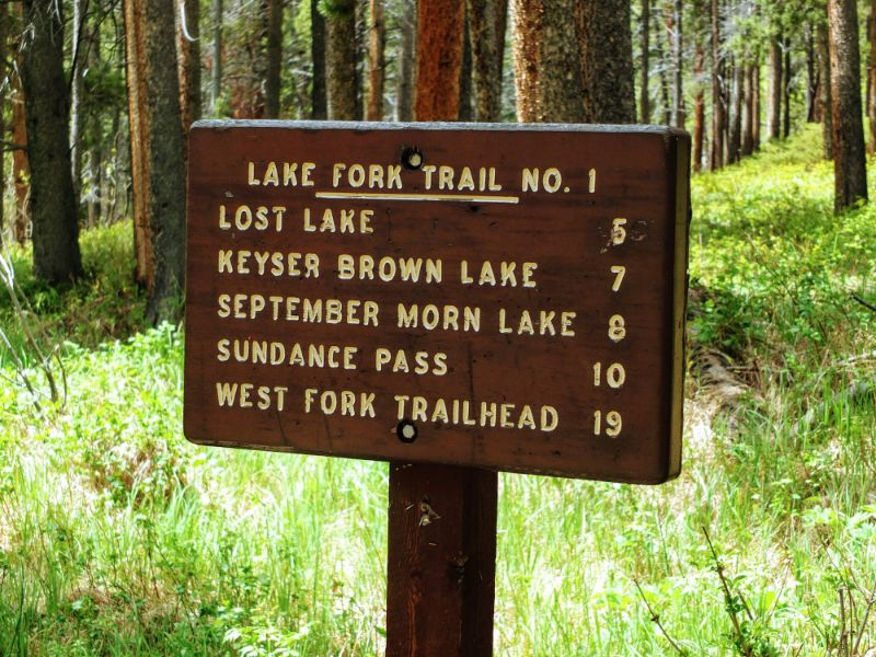 Lake Fork Trail also features longer hikes