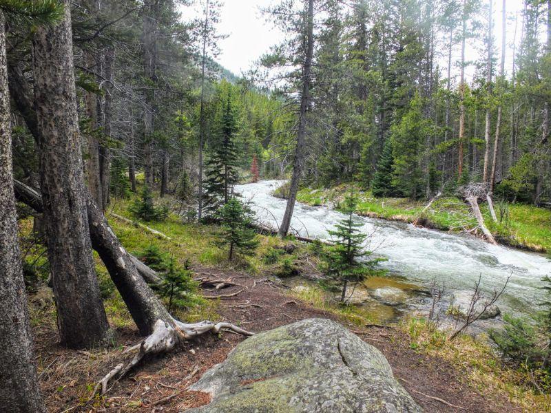 trail follows Lake Fork of Rock Creek