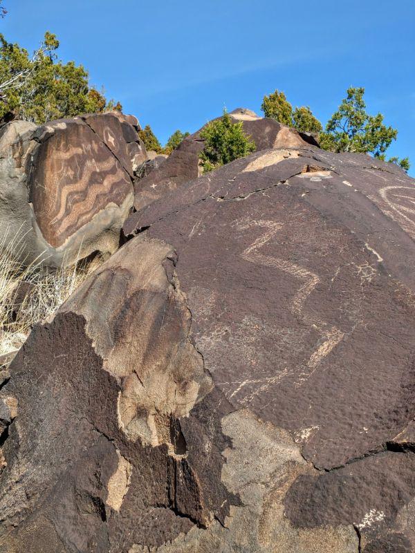 petroglyphs along the way