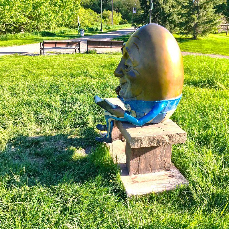 Bozeman Sculpture Park along the trail