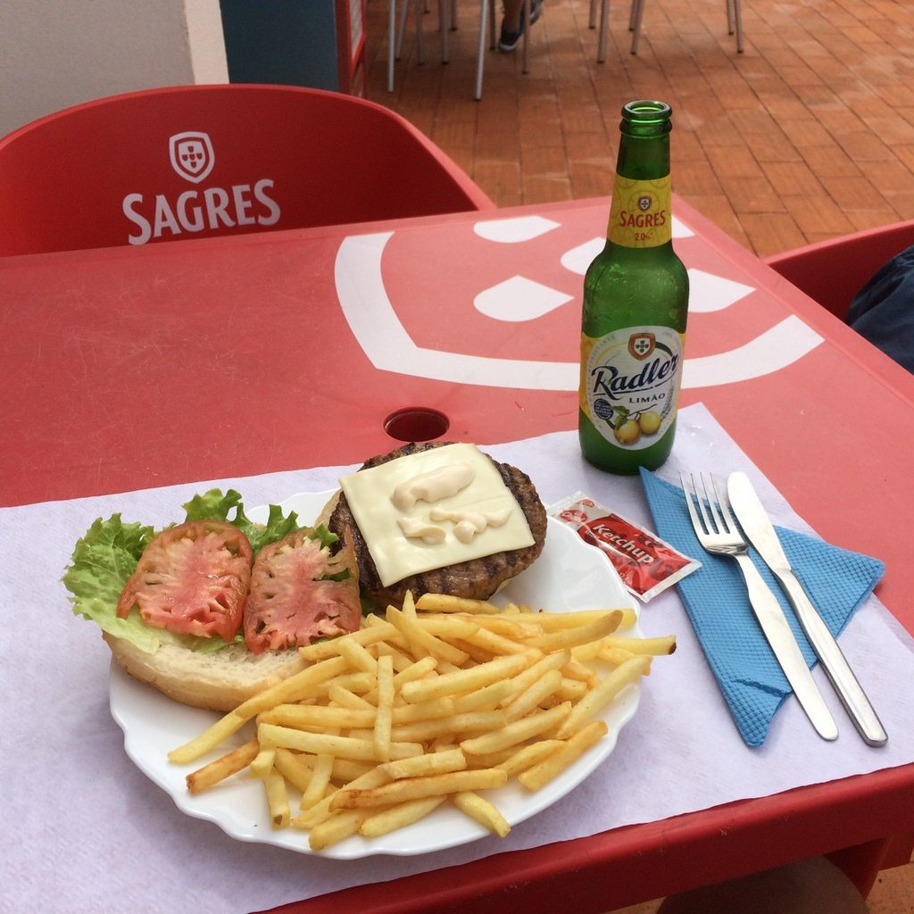 Lunch with a Radler on the trail