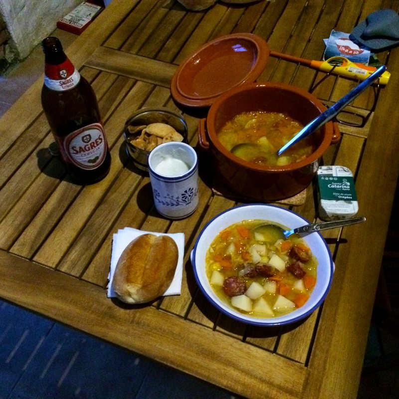 Sagres and soup