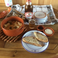 Sagres and fish casserole