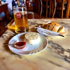 Beer and artisanal cheese at Peter's Cafe